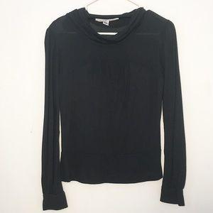 Diane von Furstenberg cowl neck long sleeve shirt